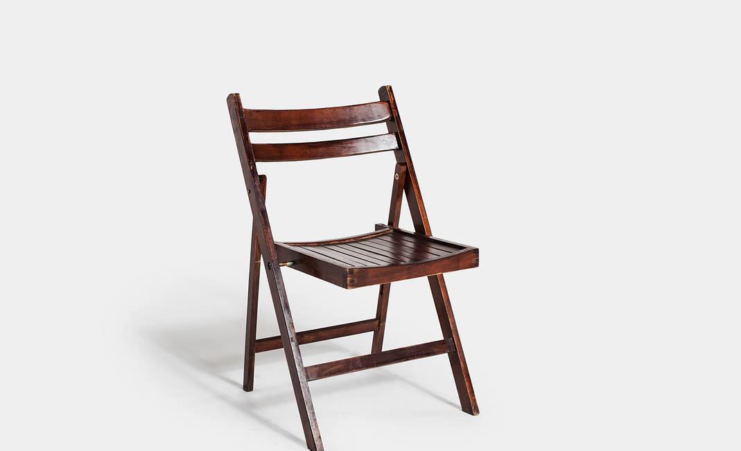 Alquiler silla madera nogal plegable - Sillas plegables madera ...