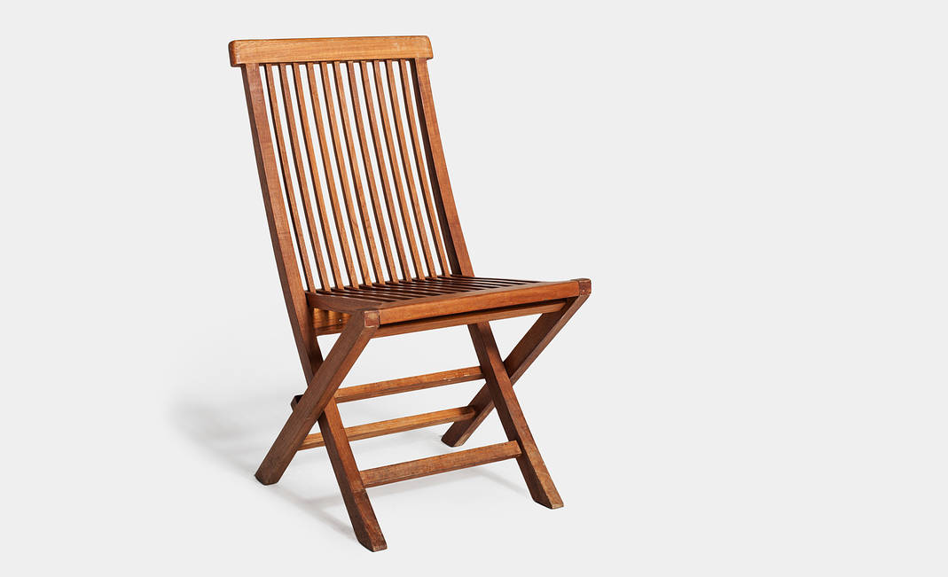 Alquiler silla teka plegable for Sillas teka jardin