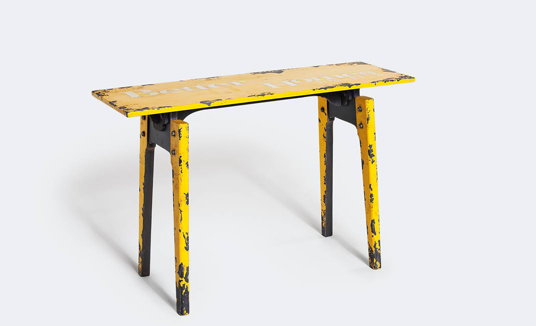 Yellow factory table | Crimons