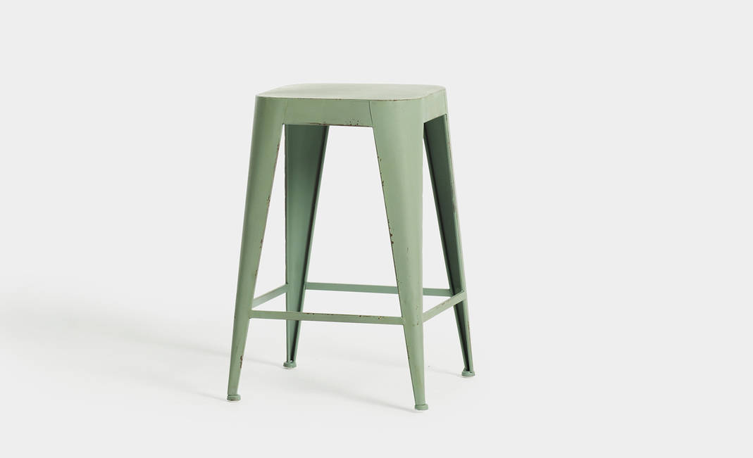 Green industrial stool | Crimons