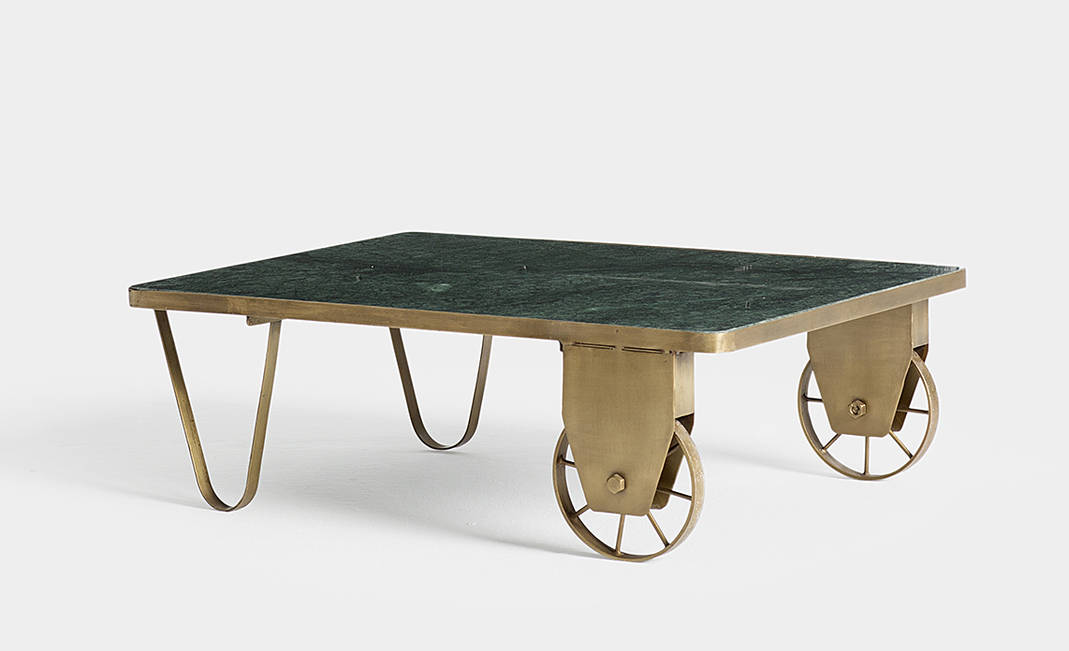 Green marbre center table | Crimons