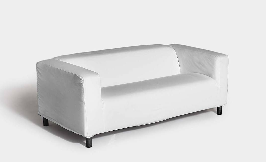 White / Black two seater sofa | Crimons