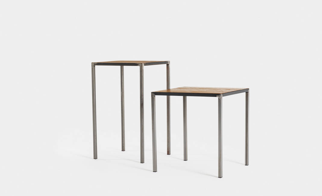 Mesa Industrial Madera/Hierro | Crimons