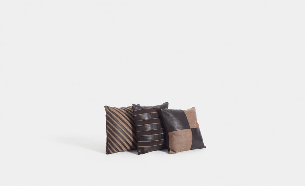 Leather cushions | Crimons