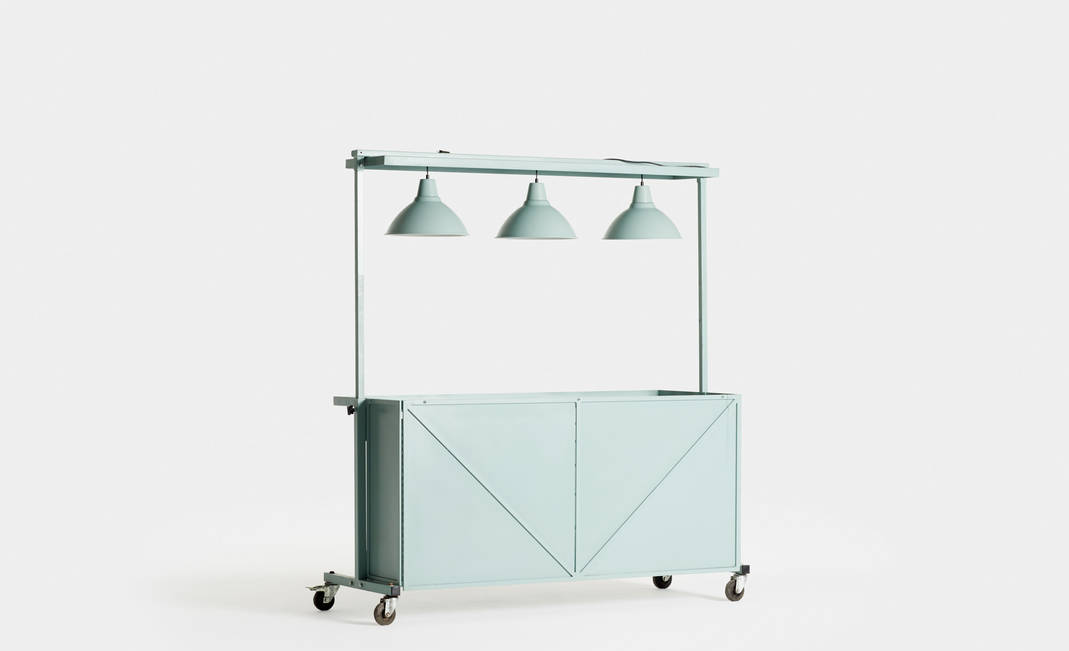 Green Industrial Kiosk | Crimons