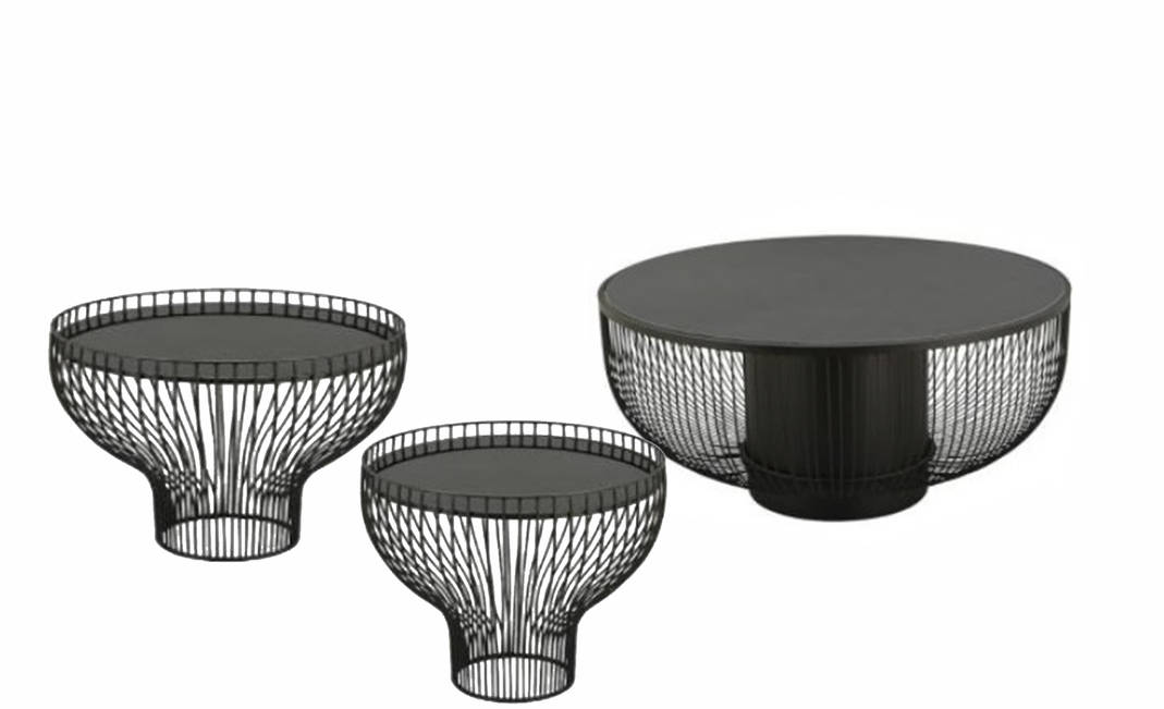 Black Platner Table | Crimons
