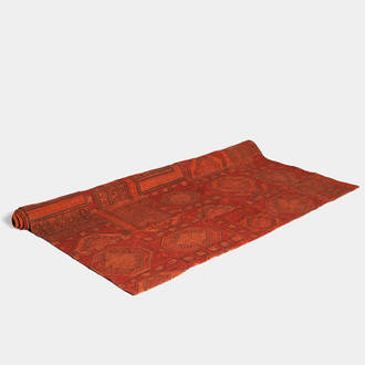 Patchwork carpet: deep-red/orange | Crimons