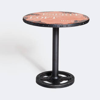 Round orange factory table | Crimons