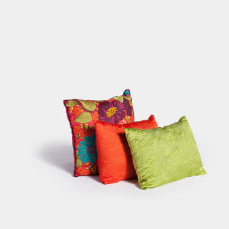 Indian silk cushions | Crimons