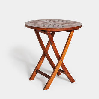 Round teka table | Crimons