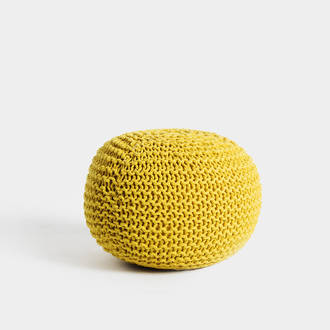 Yellow puf tricote | Crimons