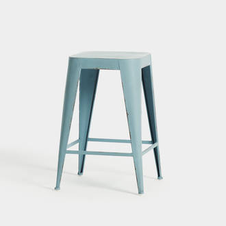 Blue industrial stool | Crimons