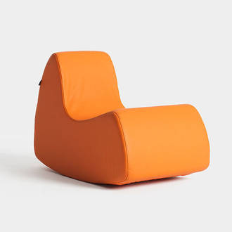 Orange Gran Prix armchair | Crimons