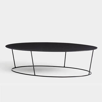 Black oval table | Crimons