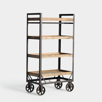 Industrial shelf with wheels | Crimons