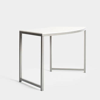Curved White Niza table alta | Crimons