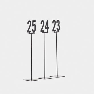Iron table numbers | Crimons
