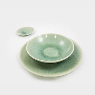 Green prestige crockery | Crimons