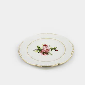 Gol/flowered vintage dish | Crimons
