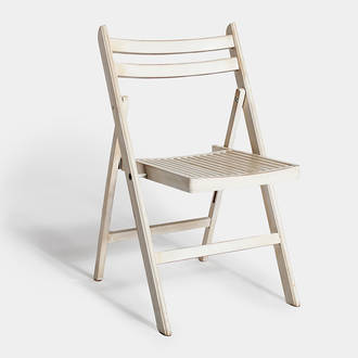 Scrapped White Wood Chair | Crimons