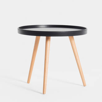 Low Black Nord table | Crimons