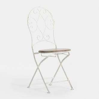 Provence white chair wooden seat | Crimons