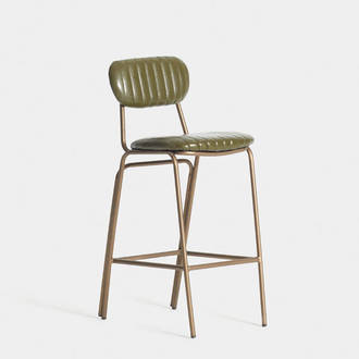 Green Upholstered stool | Crimons