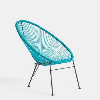 Turquoise acapulco armchair | Crimons