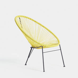 Yellow acapulco armchair | Crimons