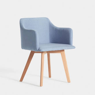 Nordic Blue upholstered armchair | Crimons