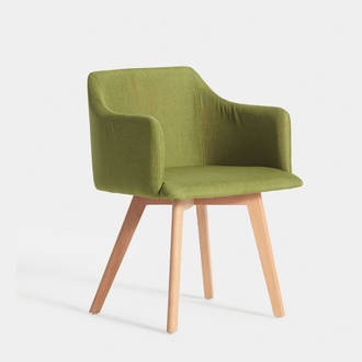 Nordic Green Upholstered Armchair | Crimons