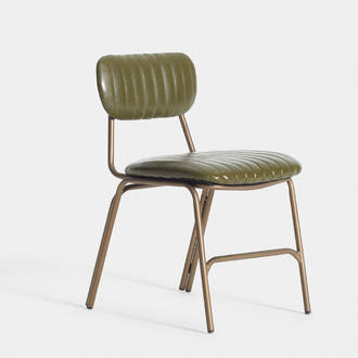 Green upholstered chair | Crimons
