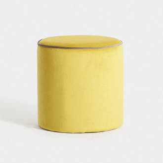 Yellow velvet puf | Crimons