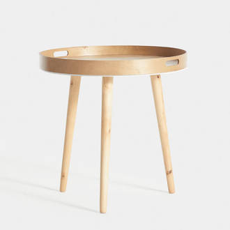 Wood table with tray | Crimons