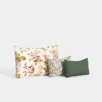 Vintage cushions green tones | Crimons