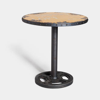 Round yellow factory table | Crimons