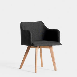 Nordic Dark Grey Upholstered Armchair | Crimons