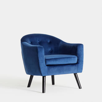 Blue Velvet armchair | Crimons
