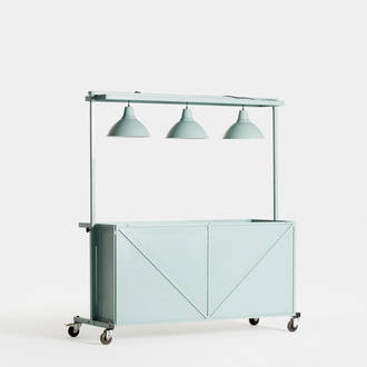 Kiosco Industrial Verde | Crimons