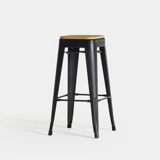 Black/Golden Industrial Stool  | Crimons