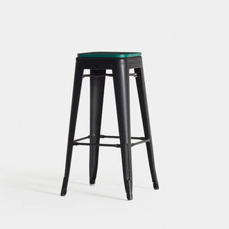 Black/Green Industrial Stool  | Crimons