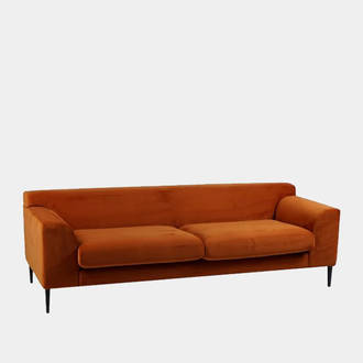 Orange Velvet Sofa | Crimons