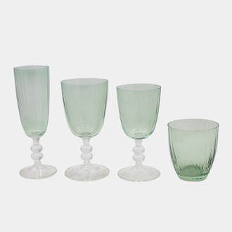 Green Dijon Glassware | Crimons