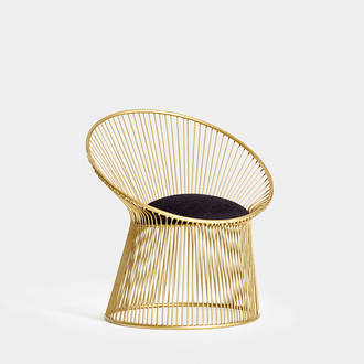 Gold Platner Armchair | Crimons