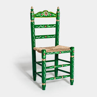 Green Sevillian chair | Crimons